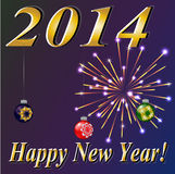 Happy New 2014 Year! Vector Royalty Free Stock Photography