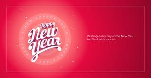 Happy New Year Vector custom 3d hand lettering typographic desig stock illustration