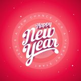 Happy New Year Vector custom 3d hand lettering typographic desig Royalty Free Stock Images