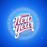 Happy New Year Vector custom 3d hand lettering typographic desig Stock Photography