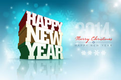 Happy New Year. Vector 3d Happy New Year design template. Elements are layered separately in vector file stock illustration