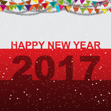 Happy new year 2017 vector design Royalty Free Stock Image