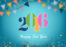 Happy New Year 2015 vector design Stock Photography