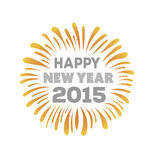 Happy new year 2015 vector Royalty Free Stock Image