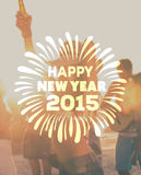 Happy new year 2015 vector Royalty Free Stock Images