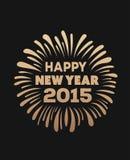 Happy new year 2015 vector Stock Photography