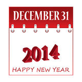 Happy New Year 2014. Stock Image
