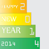 Happy New Year 2014. Vector.eps10 Royalty Free Stock Image