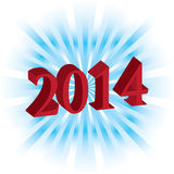Happy New Year 2014. Vector.eps10 Stock Photography