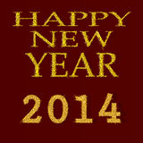 Happy New Year 2014. Vector.eps10 Stock Photos
