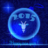 Happy New Year 2015 vector. Goat illustration Stock Images