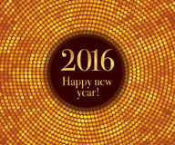 Happy New Year 2016. Vector - Happy New Year 2016 - gold disco lights frame. Vector illustration vector illustration