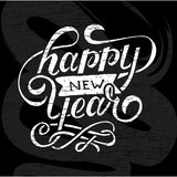 Happy New Year Vector Gradient Phrase Lettering Calligraphy Chalkboard. Happy New Year Vector Gradient Phrase Lettering Calligraphy Illustration Chalkboard Stock Image
