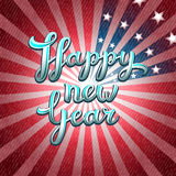 Happy New Year vector greeting card of America Stock Image