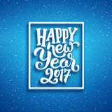 Happy New Year 2017 vector greeting card design Stock Photography