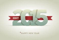 2015 Happy New Year. Vector greeting card design element Royalty Free Stock Photos