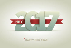 2017 Happy New Year. Vector greeting card design element Stock Photography
