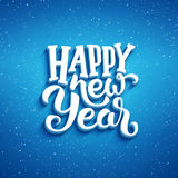 Happy New Year vector greeting card design Royalty Free Stock Photography