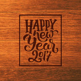 Happy New Year 2016 vector greeting card Stock Photos