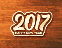 Happy New Year 2017 vector greeting card Royalty Free Stock Photography