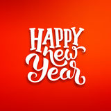 Happy New Year vector greeting card design Stock Photography
