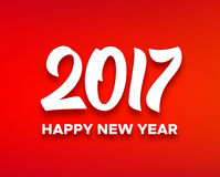 Happy New Year 2017 vector greeting card design Royalty Free Stock Photos