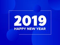 Happy New Year 2019. Vector greeting card Royalty Free Stock Image