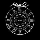 Happy New Year 2017 vector greeting card Stock Image