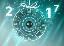 Happy New Year 2017 vector greeting card Royalty Free Stock Image