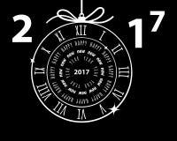 Happy New Year 2017 vector greeting card. Happy New Year 2017 greeting card, vector illustration, EPS10 Royalty Free Stock Photo