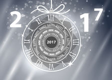 Happy New Year 2017 vector greeting card. Happy New Year 2017 greeting card, vector illustration, EPS10 Stock Photography