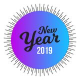 Happy New Year Labels and Badge - Vector stock illustration