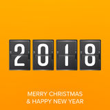 Happy New Year 2018. Vector Happy Chinese New Year 2018 Greeting Background. Happy New Year 2018. Vector Greeting Card, Brochure Or Poster Templat royalty free illustration