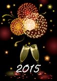 Happy new year 2015! Stock Image