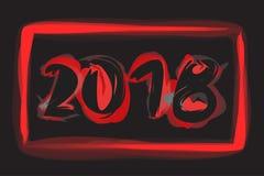 Happy New 2018 Year. Vector holiday illustration Royalty Free Stock Photo