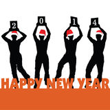 Happy new 2014 year vector Royalty Free Stock Images