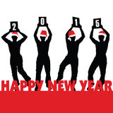 Happy new 2015 year vector illustartion. Happy new 2015 year vector art illustartion Stock Photography