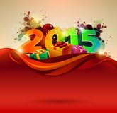 Happy new year 2015. Vector illustration Royalty Free Stock Photo