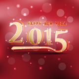 Happy new year 2015. Vector illustration Stock Photos