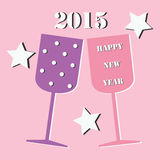 Happy New Year. 2015 a vector illustration Royalty Free Stock Photo