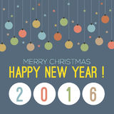 2016 Happy New Year. 2016 Happy New Year Vector Illustration Stock Image