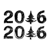Happy New 2016 Year. Vector illustration Royalty Free Stock Photos
