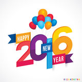 Happy New Year 2016. Vector illustration of Happy New Year 2016 Royalty Free Stock Photography