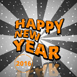 Happy New Year 2016. Vector illustration Stock Image