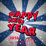 Happy New Year 2016. Vector illustration Royalty Free Stock Image