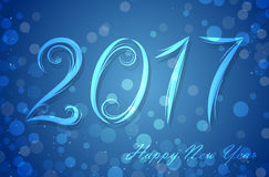 Happy 2017 New Year. Vector illustration Stock Photography