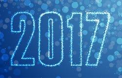 Happy 2017 New Year. Vector illustration Stock Illustration