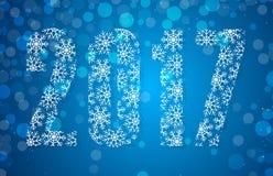 Happy 2017 New Year. Vector illustration Royalty Free Stock Photos