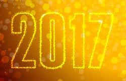 Happy 2017 New Year. Vector illustration Stock Photo