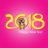 Happy New Year 2018. Vector illustration Stock Images